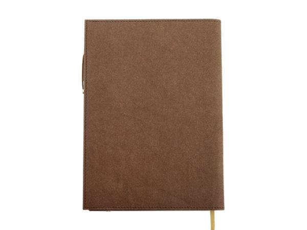 工商日誌,2020新款 25K05035 環保水洗牛皮封套手冊,背面圖