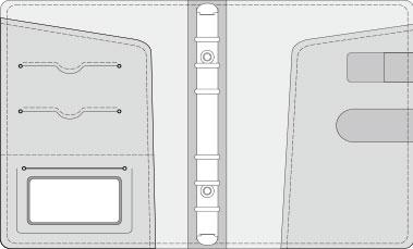 16K COVER 2&3活頁筆記本口袋/夾層版型樣式,25-1 High Frequency (cover 2&3 )