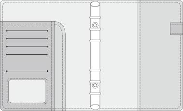 16K COVER 2&3活頁筆記本口袋/夾層版型樣式,25-9