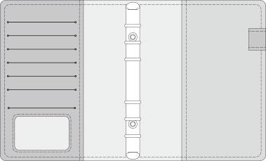 16K COVER 2&3活頁筆記本口袋/夾層版型樣式,25-10