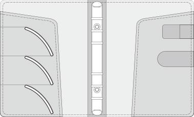 16K COVER 2&3活頁筆記本口袋/夾層版型樣式,25-2 High Frequency (cover 2&3)