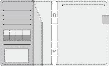 16K COVER 2&3活頁筆記本口袋/夾層版型樣式,25-3