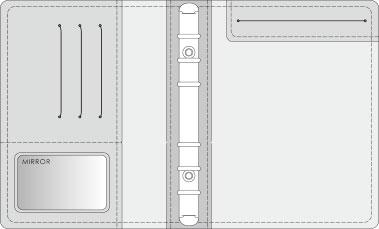 16K COVER 2&3活頁筆記本口袋/夾層版型樣式,25-3M