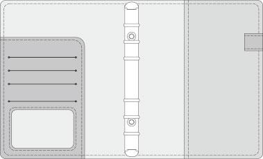 16K COVER 2&3活頁筆記本口袋/夾層版型樣式,25-4