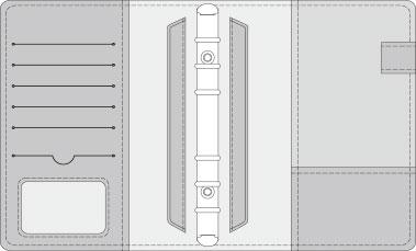 16K COVER 2&3活頁筆記本口袋/夾層版型樣式,25-5