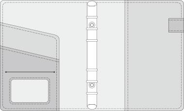 16K COVER 2&3活頁筆記本口袋/夾層版型樣式,25-6