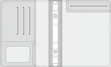 16K COVER 2&3活頁筆記本口袋/夾層版型樣式,25-7