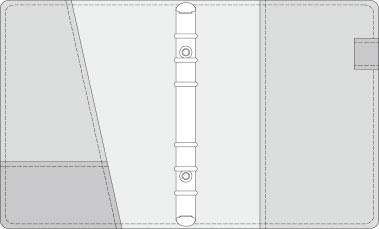 16K COVER 2&3活頁筆記本口袋/夾層版型樣式,25-8