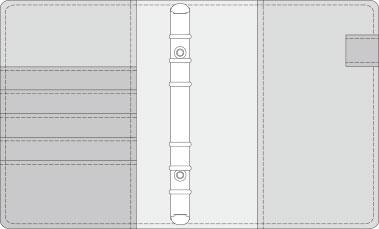 48kCOVER 2&3活頁筆記本口袋/夾層版型樣式,48-1