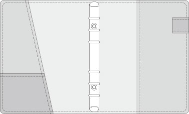48kCOVER 2&3活頁筆記本口袋/夾層版型樣式,48-2