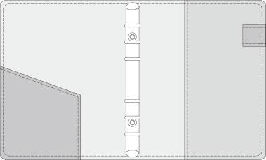 48kCOVER 2&3活頁筆記本口袋/夾層版型樣式,48-3