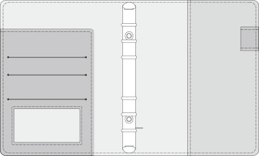 48kCOVER 2&3活頁筆記本口袋/夾層版型樣式,48-4