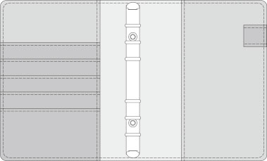 48kCOVER 2&3活頁筆記本口袋/夾層版型樣式,48-5