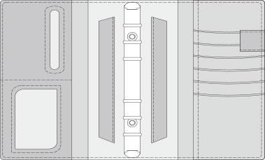 48kCOVER 2&3活頁筆記本口袋/夾層版型樣式,48-7(Q 15mm)