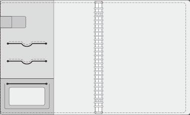 16K COVER 2&3活頁筆記本口袋/夾層 版型樣式,16-1 High Frequency (cover 2)