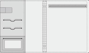 16K COVER 2&3活頁筆記本口袋/夾層版型樣式,16-2 High Frequency (cover 2)