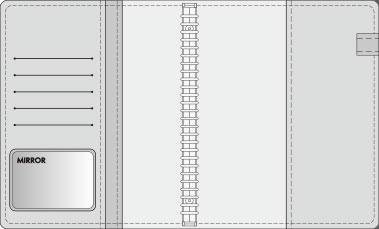 16K COVER 2&3活頁筆記本口袋/夾層版型樣式,16- 5M