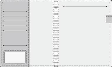16K COVER 2&3活頁筆記本口袋/夾層版型樣式,16-5