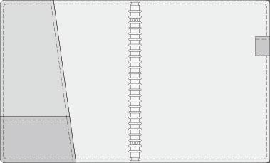 16K COVER 2&3活頁筆記本口袋/夾層版型樣式,16-6